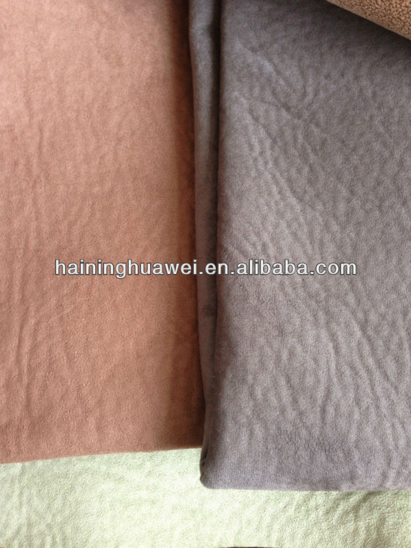 Washed(elephant skin) Suede bonding Single Fleece for normal sofa