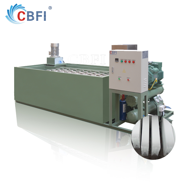 Coil Pipe Evaporator commercial ice block making machine for sale