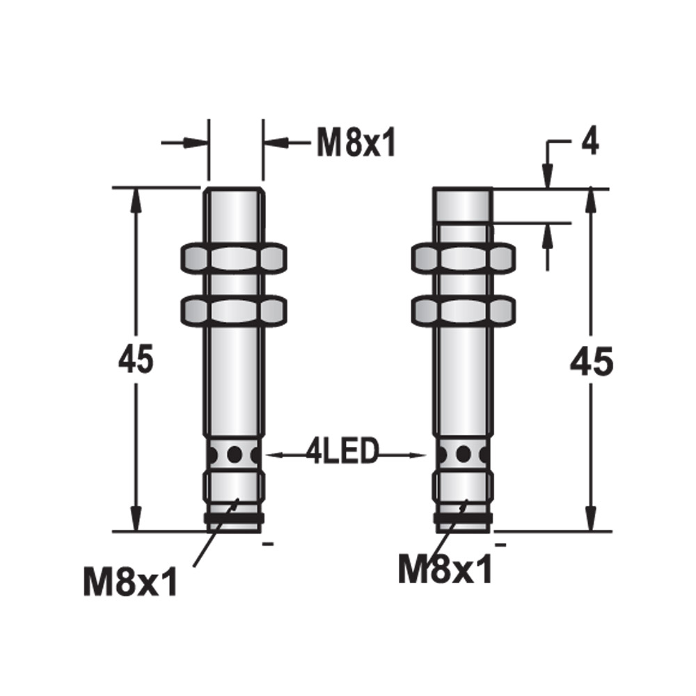 M8 Inductive Proximity Sensor Switch Lm8 China Electronic And Suppliers Manufacturers At