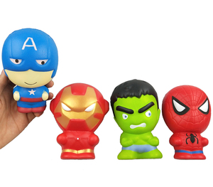Factory Wholesale 2018 Squishy Super Hero Toys Soft PU Foam Slow Rising Scented Stress Relief Toys Gifts