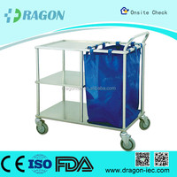 DW-TT211 surgical instrument trolleys medical treatment trolley hospital cart stainless steel trolley cart for nursing