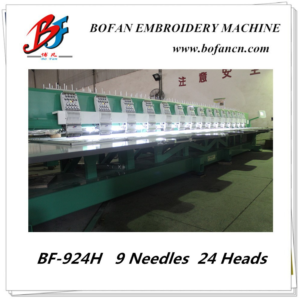 24 head flat computerized embroidery machine for woman dress