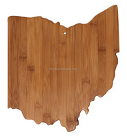 Totally Bamboo State Cutting & Serving Board, Ohio, 100% Bamboo Board for Cooking and Entertaining