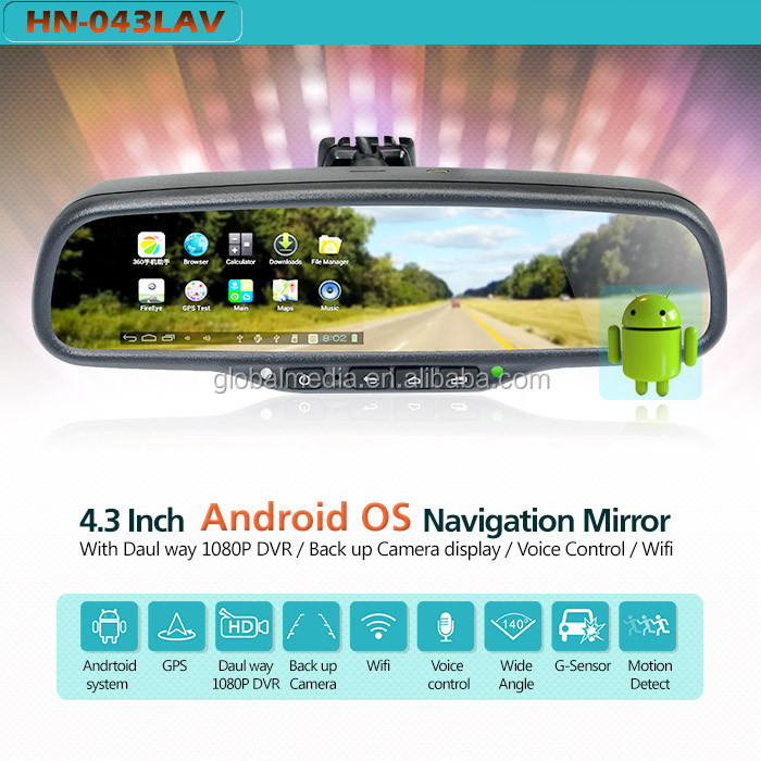 Android Gps Dvr Car Mirror Gps Navigation Rearview Mirror Support 3g Sim  Card,Usb,Wifi,Bluetooth Car Handsfree Kit - Buy Gps Dvr Mirror,Andriod Gps