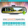 Android gps dvr car mirror gps navigation rearview mirror support 3G SIM card , USB, wifi , bluetooth car handsfree kit