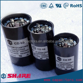 Ac Motor Starter Capacitor,Aluminium Electrolytic Cd60 Capacitor ...