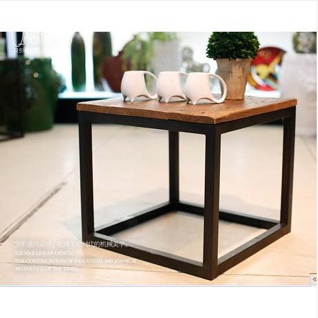 dachboden amerikanischer country m bel schmiedeeisen kaffeetisch aus altem holz couchtisch. Black Bedroom Furniture Sets. Home Design Ideas