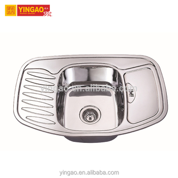 304 grade Single Bowl used commercial kitchen stainless steel sink
