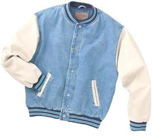 Men's 100% Cotton Denim Body And Twill Sleeves Jacket - Buy Jacket ...