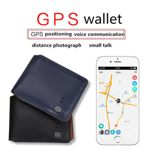 Guangzhou genuine leather chargeable smart wallet with gps