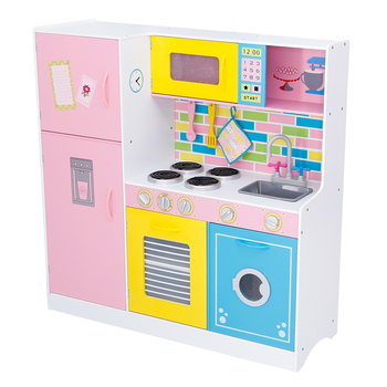 New Fashion Diy Educational Wooden Kitchen Toys Set For Girls