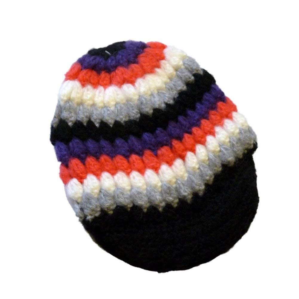 Get Quotations · Ocean Pacific Womens Colorful Knit Newsboy Hat Black Pink  Purple Stripes 0ab9f1773080