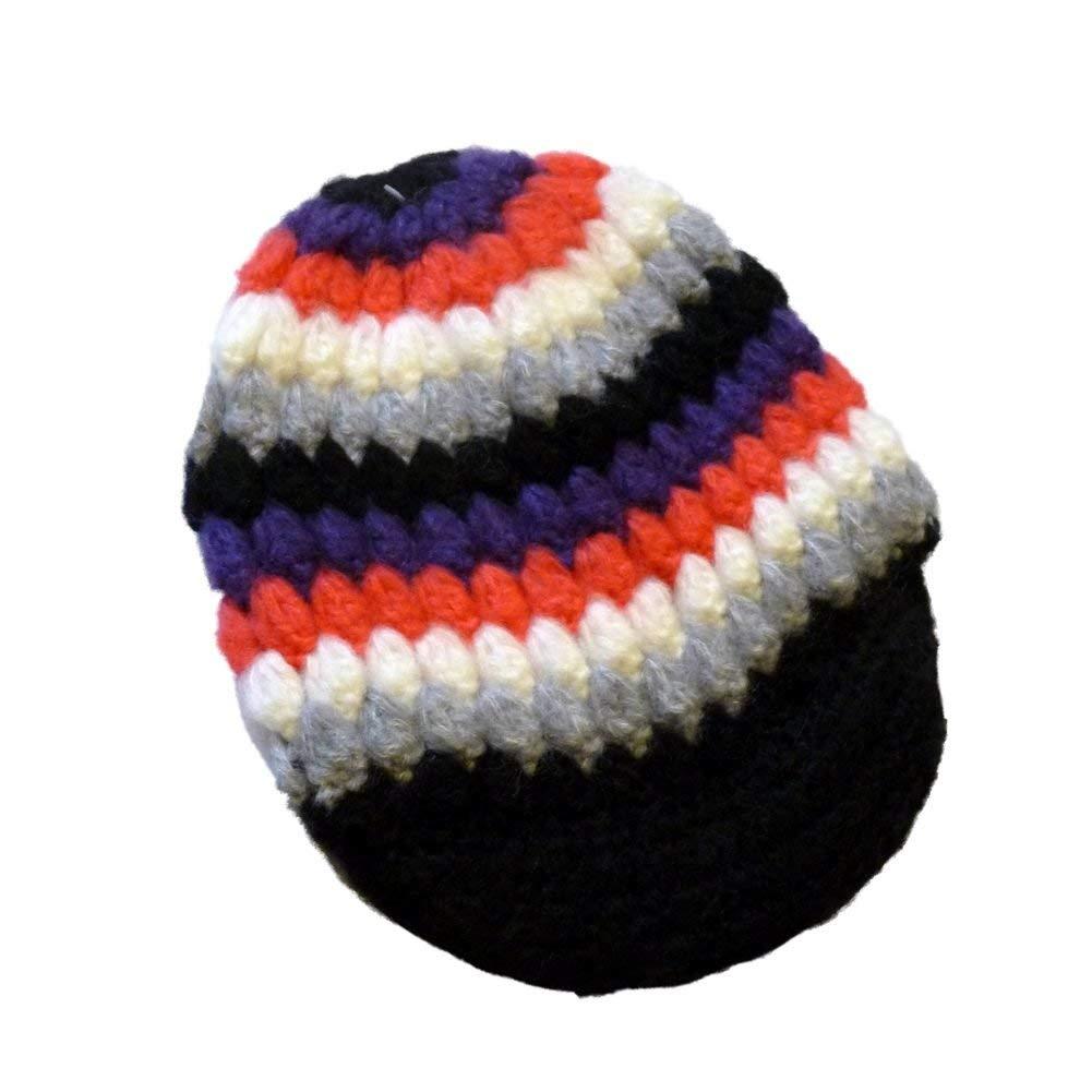 e7c1c28e475 Get Quotations · Ocean Pacific Womens Colorful Knit Newsboy Hat Black Pink  Purple Stripes