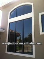 Wanjia 2012 Pvc Material Arch Shape Fixed Window Wj-w-1001