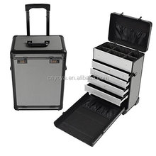 Pro Rolling Sieraden Make Case w/Lades Code Lock Aluminium Draagbare Display