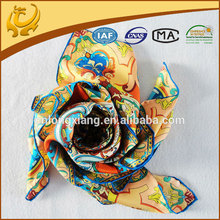 14mm twill digital printed custom design silk scarf