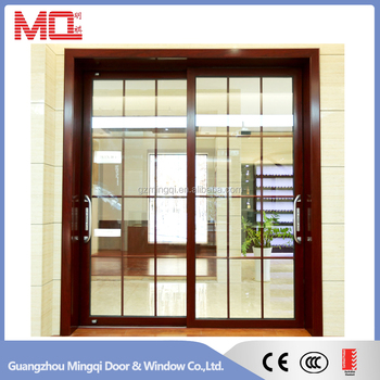 Popular aluminum profile sliding glass exterior door
