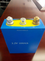 2000cycle 3.2v 100ah punch battery, high power 100ah lifepo4 punch battery cell 3.2v