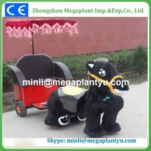 With cart Large electric kid riding horse toy for sale