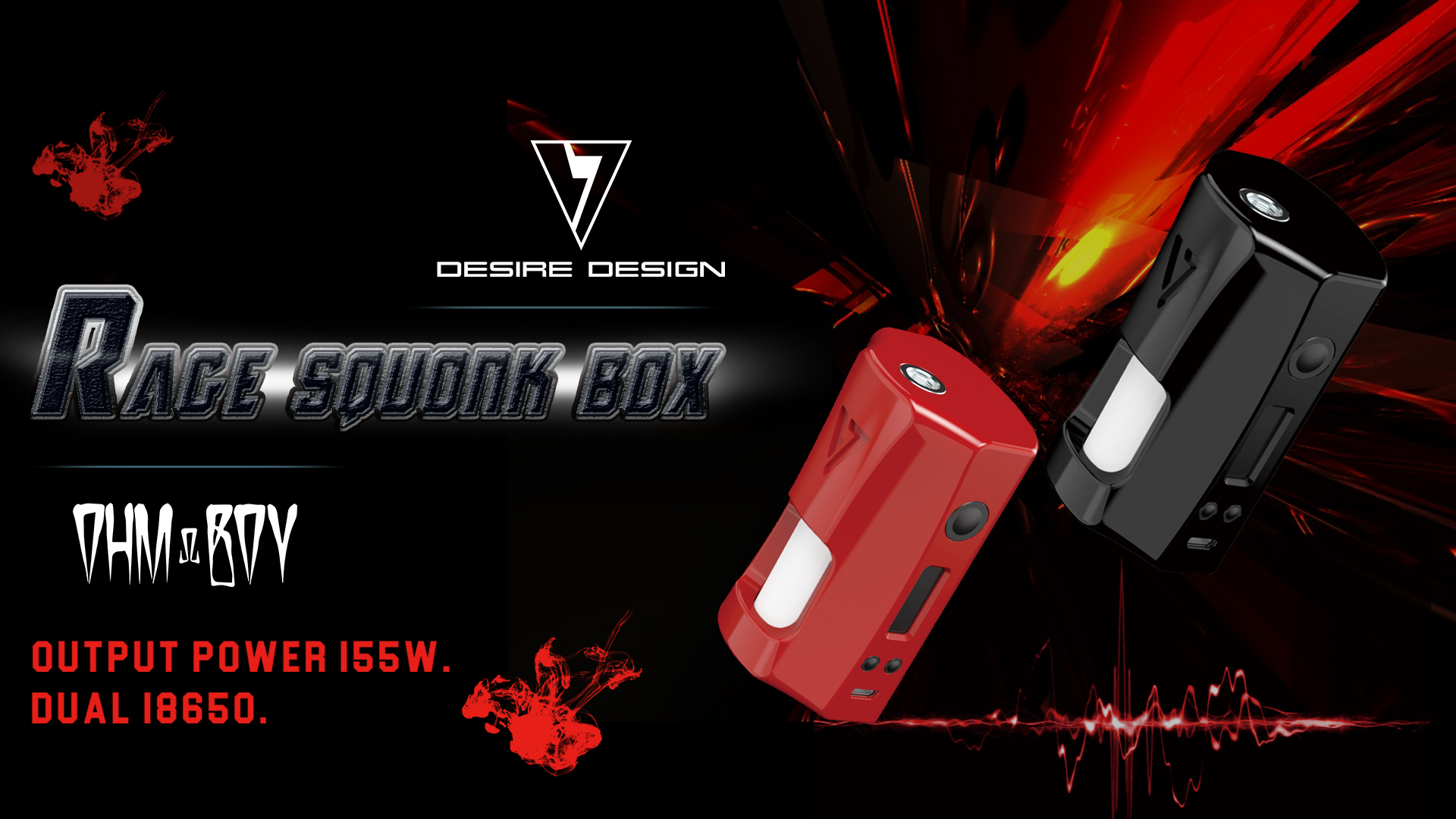 Best Selling Dual 18650 Rage Squonk Box Desire Design Rage