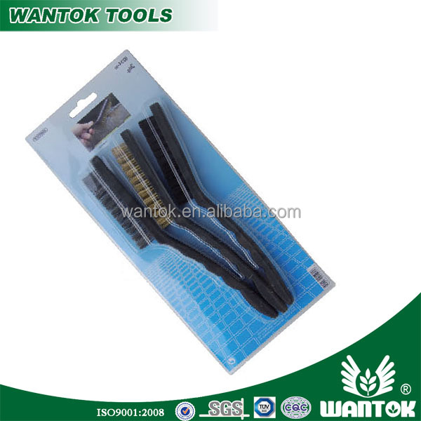 "WT0306125 3pcs steel wire brush/ 9"" brush wire set"