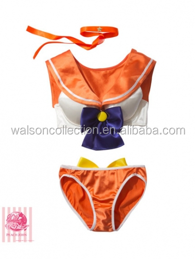 2015 Instyles Orange Sailor Moon Costume Cosplay Uniform Fancy Dress Fantasy + Gloves