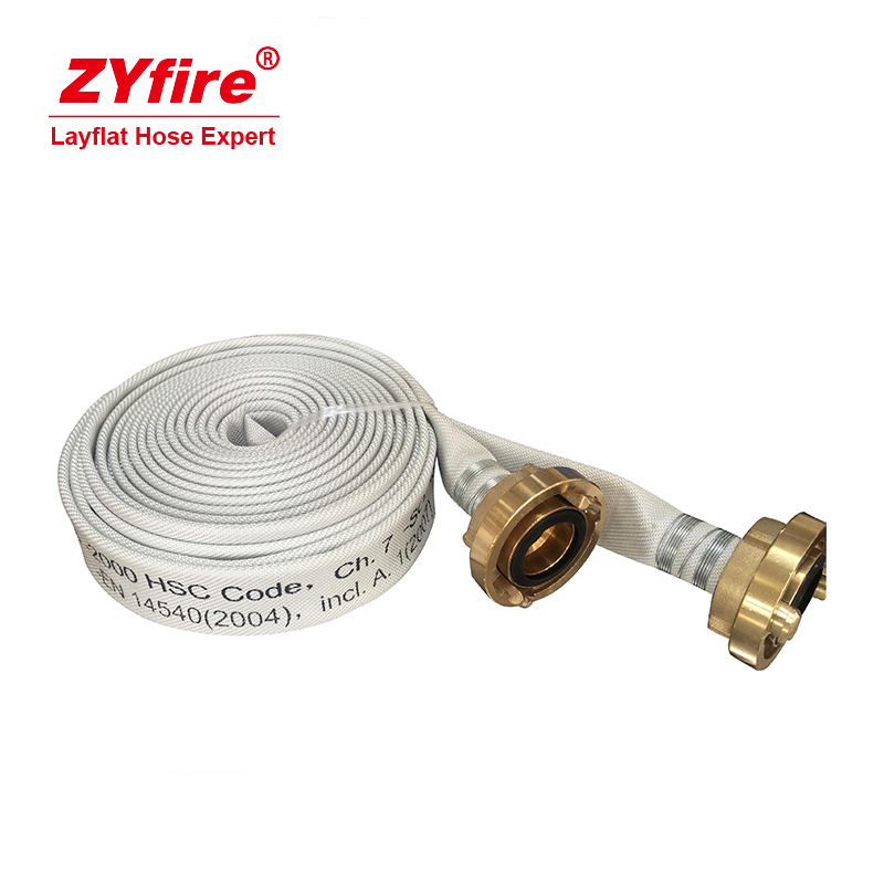 China manufacturer rubber frac water transfer flat 3 fire hose