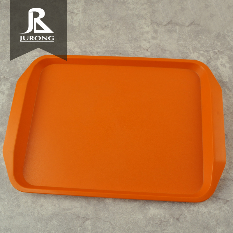 Guangdong New style food plastic serving orange charger plates wholesale