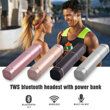 new premium tws wireless earbuds, bluetooth headset wireless with charging power bank, China bluetooth headset price
