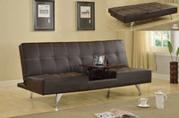 Convertable long flat restaurant sofa bed bench