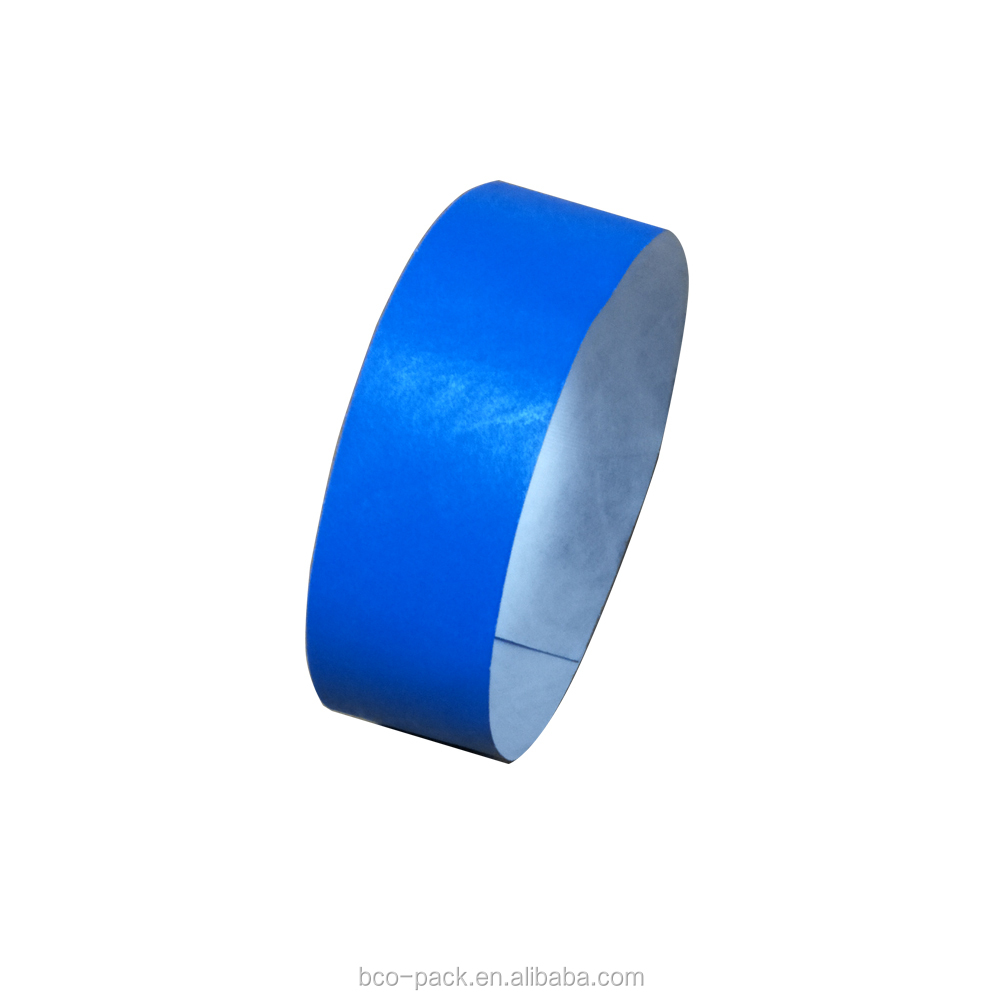 Colourful custom logo printing anti-falsification non woven wristbands