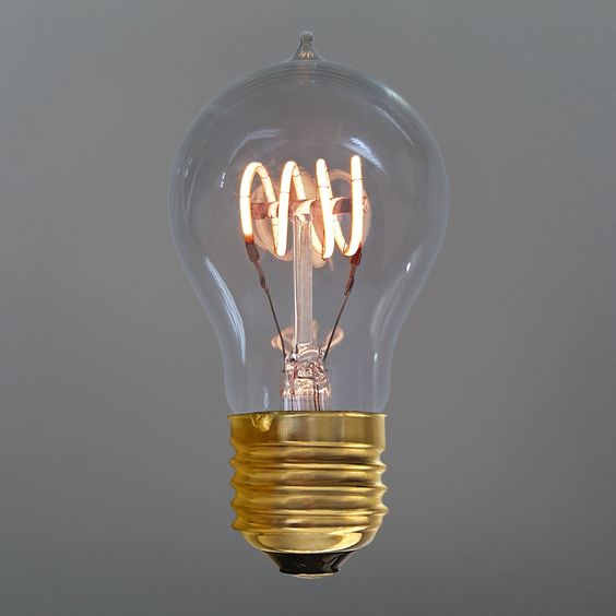 TianFan Led Bulbs Vintage Light Bulb Quad Loop Led Filament 4W Dimmable Decorative Light Bulbs A19 Haining Techfan Electronic Co Ltd