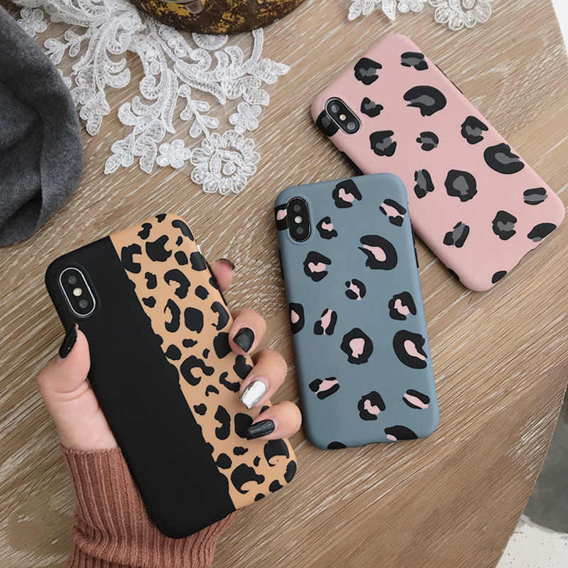 Lovebay Fashion Leopard Print For iPhone 6 6s 7 8 Plus X XR XS Max Phone Case Luxury Colorful IMD For iPhone X Phone Case фото