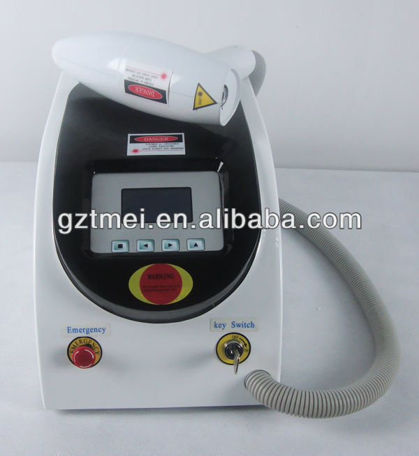 Beauty salon equipment 1064nm 532nm Long Pulse Q-switch nd yag laser Tattoo Removal