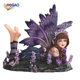 OEM handmade resin purple fairy statues cheap wholesale fairy tale figurines for gardens home