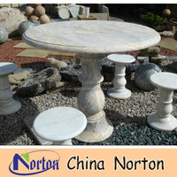 Marble table and chair wrought iron table with marble top house garden decoration NTS-B102R