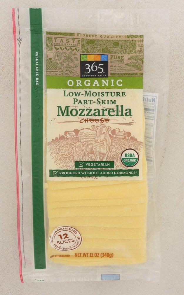 365 Everyday Value, Organic Mozzarella Slices, 12 oz