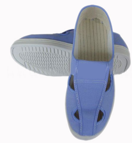 light blue ESD Canvas 4 holes Shoe for cleanroom,safty antistatic shoes