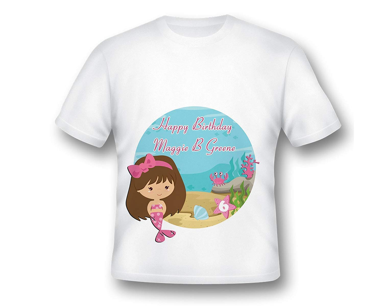 Get Quotations Mermaid Birthday Shirt Girls Little Under