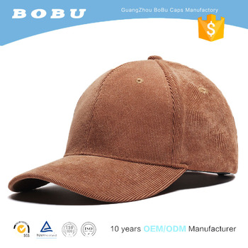 6788133e Wholesale unstructured curve brim custom corduroy blank baseball cap and dad  hat