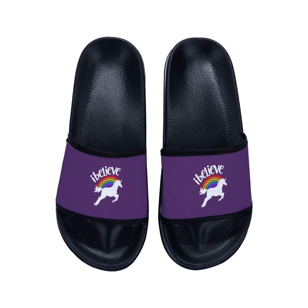 MingDe Sports Shower Slides Sandals for Boys Girls Unicorn Anti-Slip Soft Sole Indoor Outdoor Beach Slipper Shoes