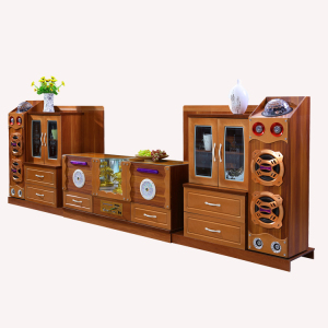 Smart products USB connection lcd wooden tv cabinet showcase design