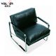 Antique design leather armchair leisure lounge chair seat