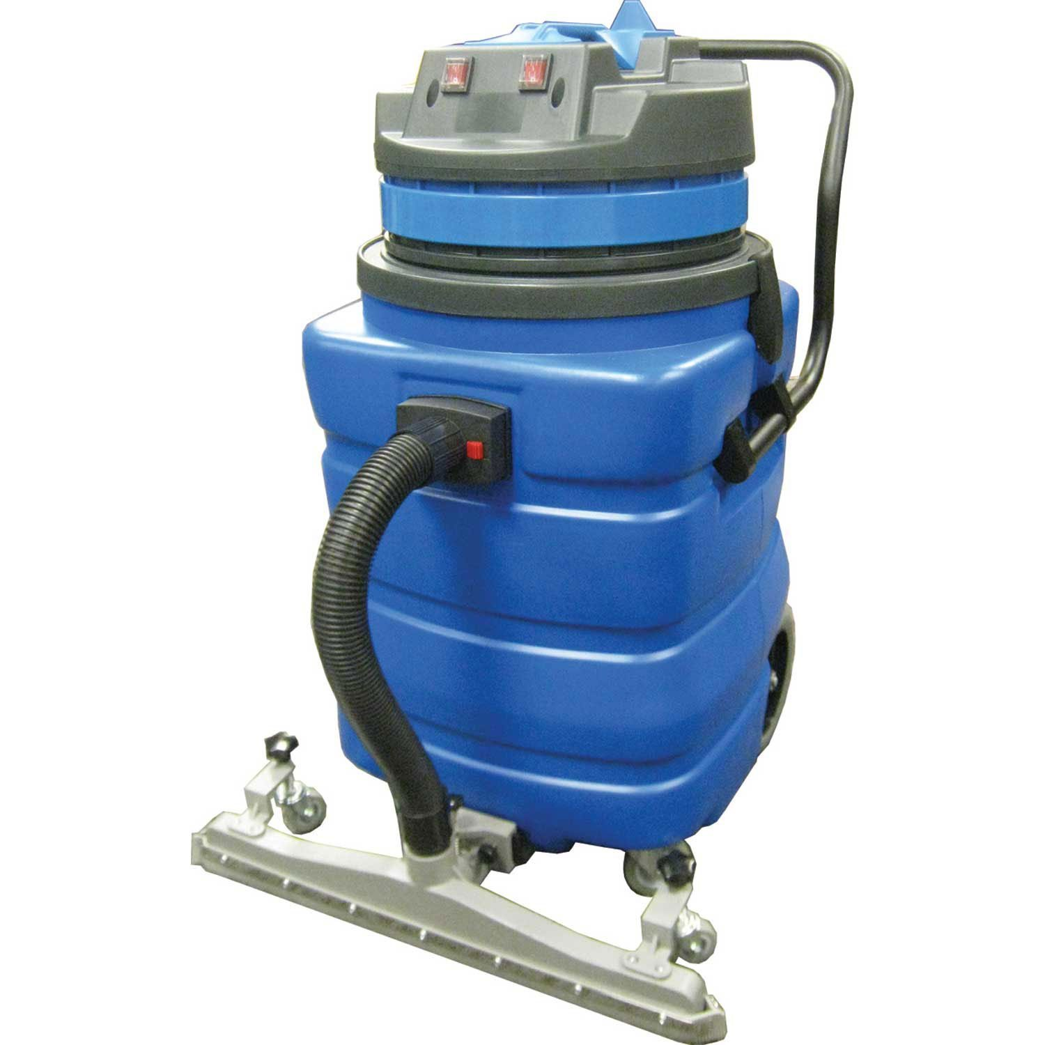 Perfect Products 23 Gallon Two-2 Stage Motor Wet/Dry Vac W/5-Piece Tool Kit & Squeegee, Blue
