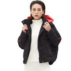 Customized Good Quality Women Clothing Short With Hooded Coat Ladies Down Puffer Jackets