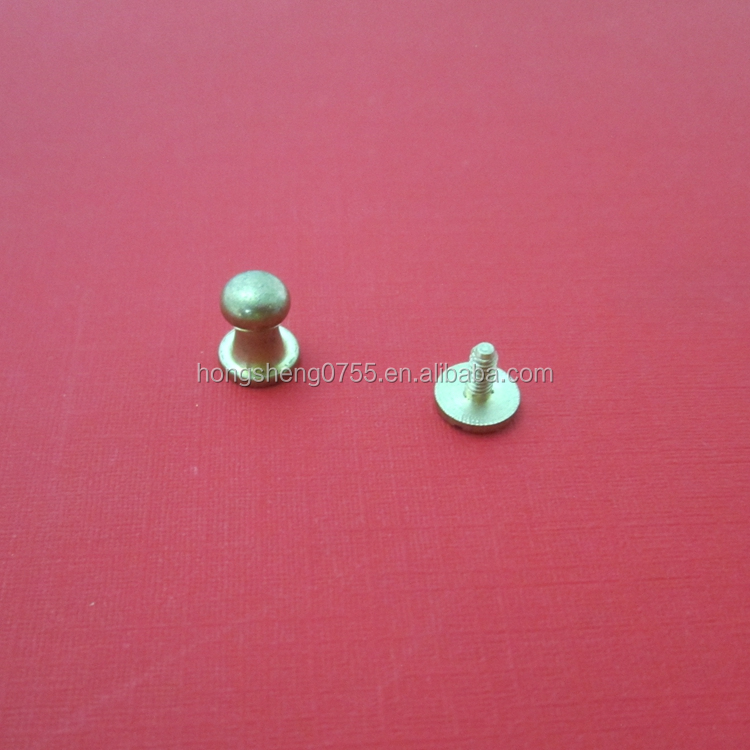 custom made solid brass screw button studs wholesale