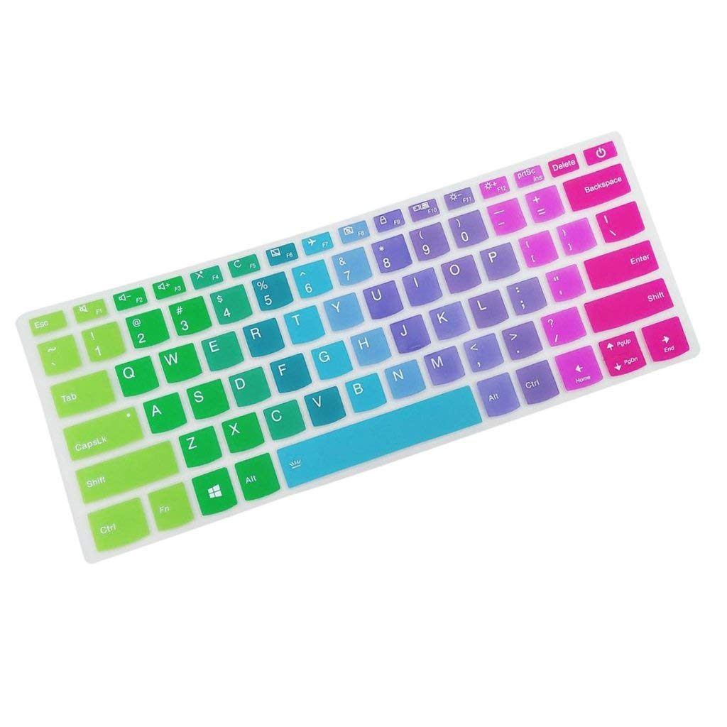 Homyl 14.6''Waterproof Anti-Dust Silicone Keyboard Protector Cover for Lenovo 7000 Rainbow