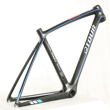 China 700c road bike carbon 56cm frame BSA bicycle strong cheap frameset on sale