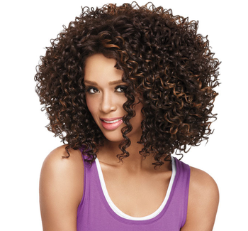 European And American Lady Black Head Small Volume Wigs In
