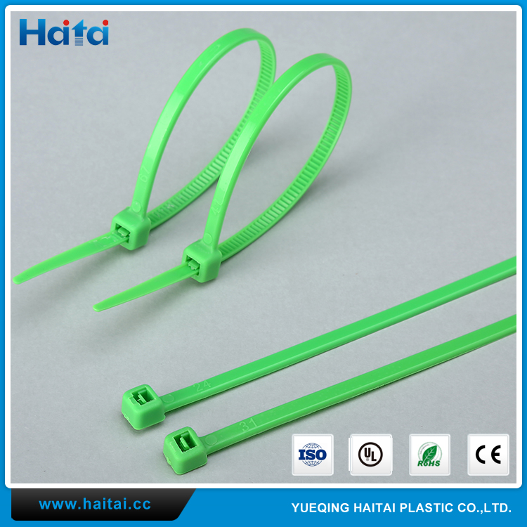 Haitai China Factory Sales Directly 100 PCS Pack Heavy Duty Network Nylon Cable Ties
